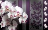 Fotobehang Vlies | Bloemen, Orchideeën | Paars | 254x184cm