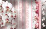 Fotobehang Vlies   Bloemen, Orchideeën   Roze   254x184cm