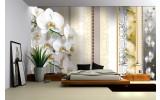Fotobehang Vlies   Bloemen, Orchideeën   Geel   254x184cm