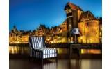 Fotobehang Vlies | Stad | Bruin, Blauw | 254x184cm