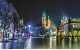 Fotobehang Vlies | Stad | Grijs, Groen | 254x184cm