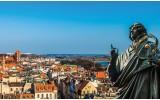 Fotobehang Vlies | Stad | Blauw | 254x184cm