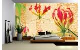Fotobehang Vlies   Bloemen   Rood, Oranje   254x184cm