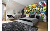 Fotobehang Vlies | Graffiti, Street art | Groen | 254x184cm