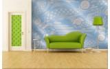 Fotobehang Vlies | Abstract | Blauw, Grijs | 254x184cm
