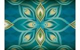 Fotobehang Vlies | Abstract | Groen, Blauw | 254x184cm