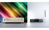 Fotobehang Vlies | Abstract | Groen, Paars | 254x184cm