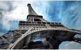 Fotobehang Vlies   Eiffeltoren   Grijs, Blauw   254x184cm
