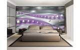Fotobehang Vlies | Abstract | Zilver, Paars | 254x184cm