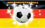 Fotobehang Vlies | Voetbal | Geel, Zwart | 254x184cm