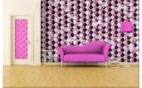 Fotobehang Vlies | Abstract | Paars, Grijs | 254x184cm