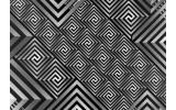 Fotobehang Vlies | Abstract | Grijs, Zwart | 254x184cm