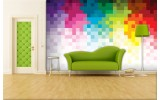 Fotobehang Vlies | Abstract | Roze, Geel | 254x184cm