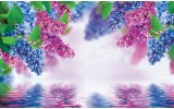 Fotobehang Vlies | Bloemen | Paars, Blauw | 254x184cm