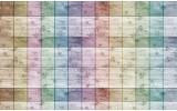 Fotobehang Vlies   Hout, Landelijk   Paars   254x184cm
