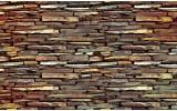 Fotobehang Vlies | Stenen, Muur | Bruin | 254x184cm