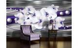 Fotobehang Vlies   Bloemen, Orchideeën   Zilver   254x184cm
