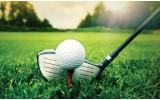 Fotobehang Vlies   Golf   Groen, Wit   254x184cm