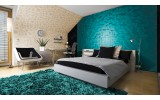 Fotobehang Vlies   3D   Turquoise   254x184cm