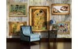 Fotobehang Vlies   Hout, Schilderijen   Geel   254x184cm