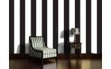 Fotobehang Vlies | Strepen | Zwart, Wit | 254x184cm