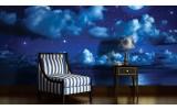Fotobehang Vlies   Nacht   Blauw   254x184cm