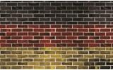 Fotobehang Vlies   Stenen, Muur   Rood   254x184cm