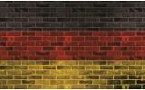 Fotobehang Vlies | Stenen, Muur | Geel | 254x184cm