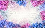 Fotobehang Vlies | Bloemen | Roze, Blauw | 254x184cm