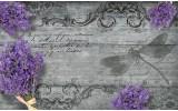 Fotobehang Vlies | Landelijk, Bloemen | Paars | 254x184cm