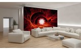 Fotobehang Vlies   Abstract   Rood   254x184cm