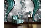 Fotobehang Vlies   Abstract, Bloem   Zilver   254x184cm