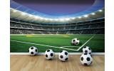 Fotobehang Vlies   Voetbalstadion   Groen   254x184cm