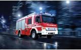 Fotobehang Vlies   Auto, Brandweer   Rood   254x184cm