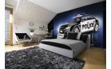 Fotobehang Vlies | Politieauto | Zwart | 254x184cm