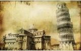 Fotobehang Vlies | Pisa | Sepia | 254x184cm