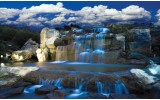 Fotobehang Vlies   Natuur, Waterval   Blauw   254x184cm