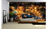 Fotobehang Vlies | Lampen | Geel, Bruin | 254x184cm