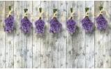 Fotobehang Vlies | Hout, Bloemen | Grijs | 254x184cm