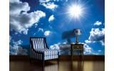 Fotobehang Vlies | Lucht, Zon | Blauw | 254x184cm