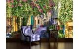 Fotobehang Vlies | Natuur, Straat | Groen | 254x184cm