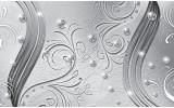 Fotobehang Vlies | Abstract | Zilver | 254x184cm
