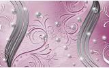 Fotobehang Vlies | Abstract | Roze, Zilver | 254x184cm