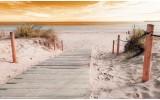 Fotobehang Vlies | Strand | Geel | 254x184cm