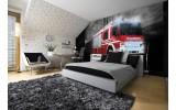 Fotobehang Vlies | Brandweerauto | Zwart, Rood | 254x184cm
