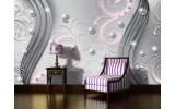 Fotobehang Vlies   Modern   Zilver, Roze   254x184cm