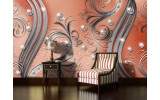 Fotobehang Vlies | Modern | Zilver, Oranje | 254x184cm