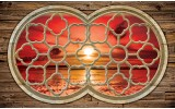 Fotobehang Vlies | Zonsondergang | Rood, Bruin | 254x184cm
