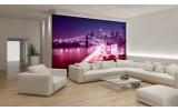 Fotobehang Vlies | New York | Paars | 254x184cm
