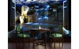 Fotobehang Vlies | Natuur, Waterval | Blauw | 254x184cm